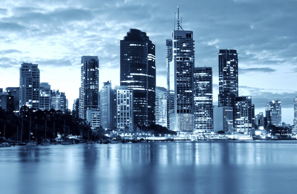 Australia Brisbane City Night Front Page Slider